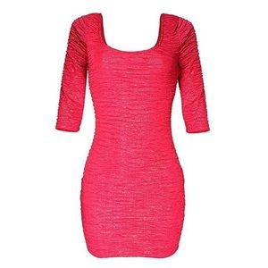 Material Girl Mini Dress With Back Strap - Pink